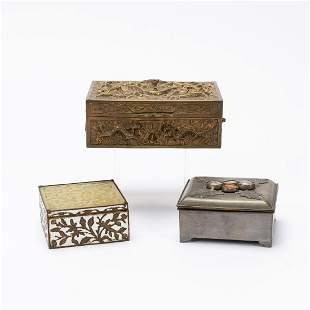 GROUP 3 METAL & HARDSTONE CHINESE BOXES