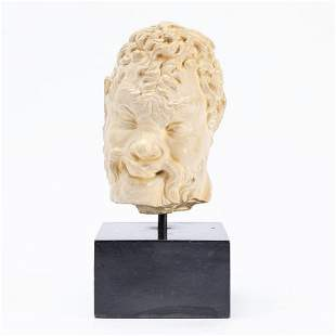 AFTER THE GREEK ANTIQUE, CAST HEAD OF A SATYR