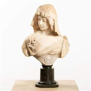 ADOLFO CIPRIANI, ITALIAN ALABASTER BUST OF LADY