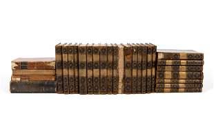 28 VOLS, JOHN RUSKIN LEATHER BOUND BOOKS
