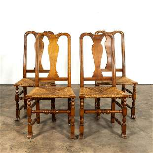 SET, FOUR STICKLEY QUEEN ANNE STYLE SIDE CHAIRS