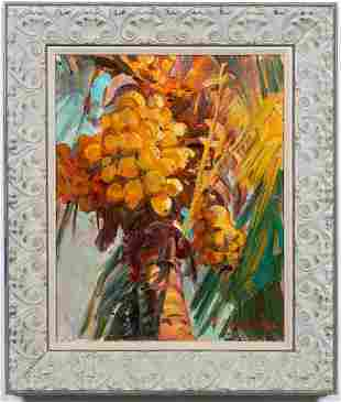 JAMES KERR, YELLOW MALAYAN COCONUTS OIL, ON CANVAS