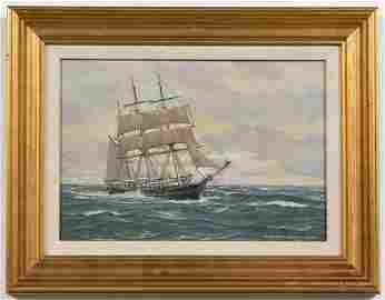 CHARLES F. KENNEY, NAUTICAL OIL ON CANVAS