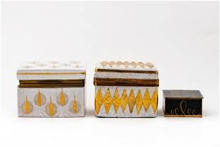 3 PCS, ITALIAN MID-CENTURY MODERN DECORATIVE BOXES
