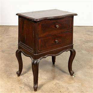 18TH C. ITALIAN TWO-DRAWER ROCOCO INLAID COMMODE