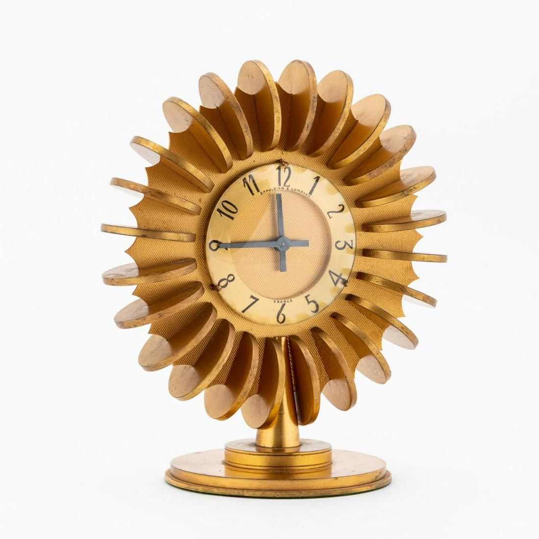 SPAULDING & CO FRENCH ART DECO STYLE MANTEL CLOCK