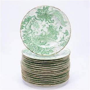 SET 16 ROYAL CROWN DERBY GREEN AVES SALAD PLATES