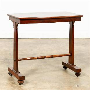 19TH C. ENGLISH REGENCY ROSEWOOD LIBRARY TABLE