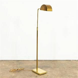 MID-CENTURY BRASS PHARMACY LIBRARY FLOOR LAMP