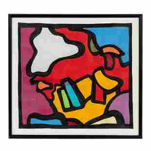 MARC HELMAN, ABSTRACT MIXED MEDIA ON PAPER
