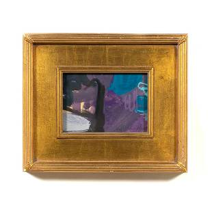 WILLIAM HENRY MODERN PAINTING, GILTWOOD FRAME