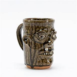 CLEATER & BILLIE MEADERS SOUTHERN POTTERY FACE MUG