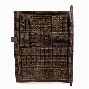 AFRICAN DOGON HIGHLY CARVED WOODEN DOOR