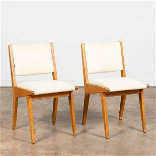"""PAIR, JENS RISOM """"666"""" UPHOLSTERED SIDE CHAIRS"""