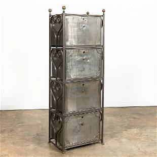 INDUSTRIAL-STYLE IRON AND STEEL CABINET