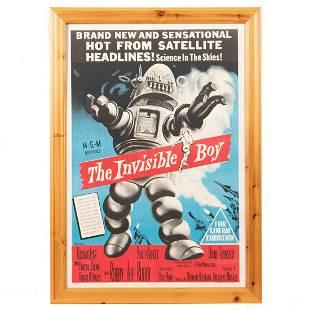 """THE INVISIBLE BOY"" 1957 ORIGINAL MOVIE POSTER"