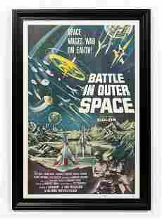 """""""BATTLE IN OUTER SPACE"""" 1960 ORIGINAL MOVIE POSTER"""