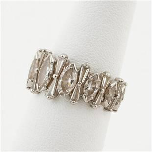 VINTAGE PLATINUM & 3.25 CTW DIAMOND WEDDING BAND