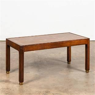 MID-CENTURY MODERN STARBURST INLAY COFFEE TABLE