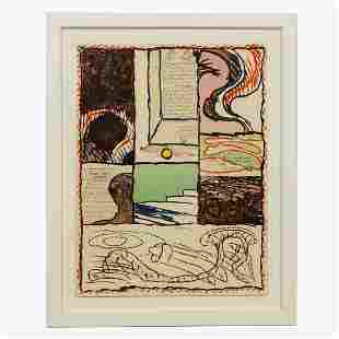 PIERRE ALECHINSKY, UNTITLED ABSTRACT LITHOGRAPH