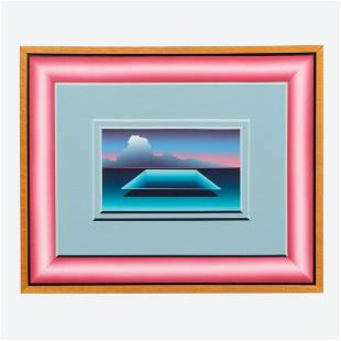 GEORGE SNYDER, MIRAGE ABSTRACT PAINTING - 1984