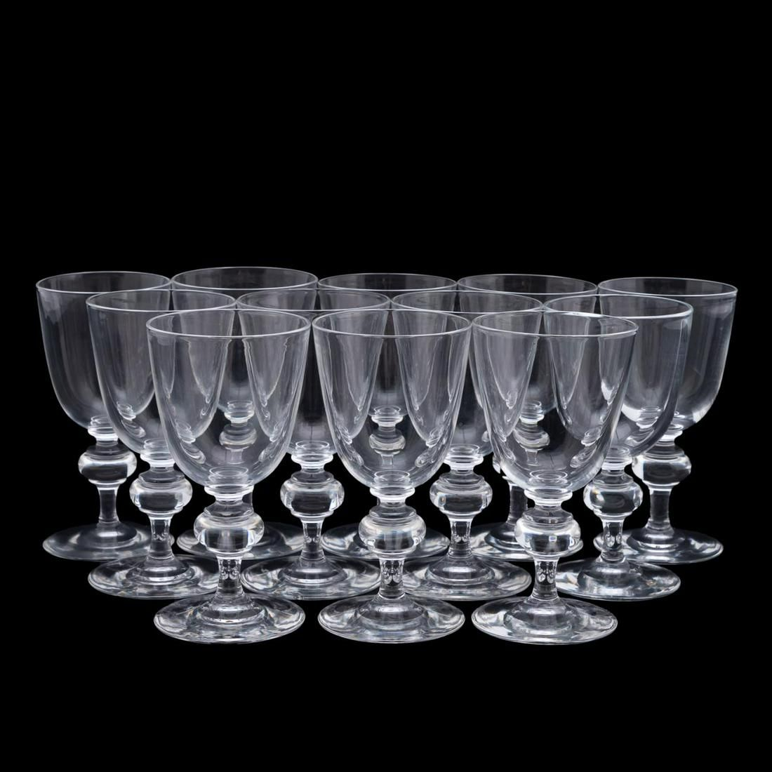 SET OF 12 STEUBEN RED WINE GLASSES, PATTERN 7925