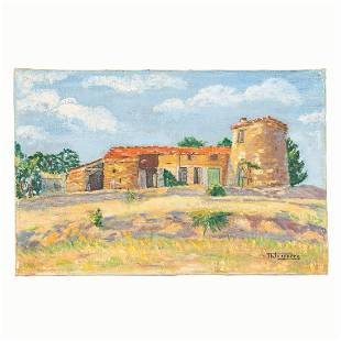 LASSERRE, FRENCH COUNTRYSIDE OIL ON CANVAS