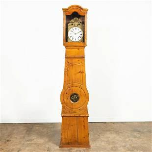 19TH C. GEORGE HERMAN PINE COMTOISE CLOCK