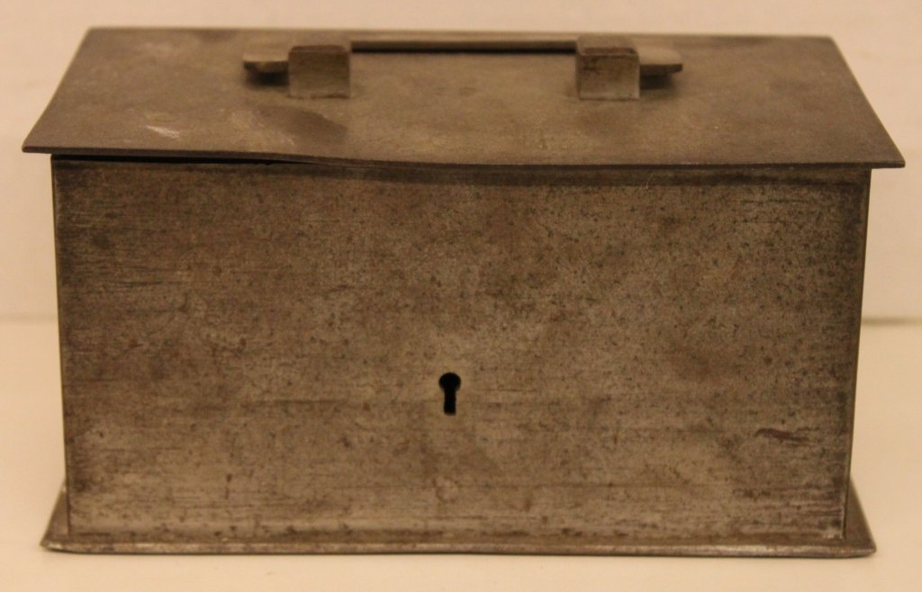 "19th Century Iron Locking Stong Box - stamped ""59"""