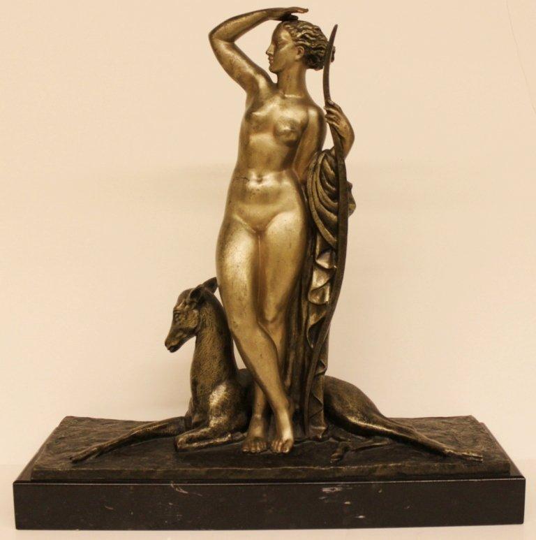 Pierre Le Faguays Bronze Sculpture Diana the huntress