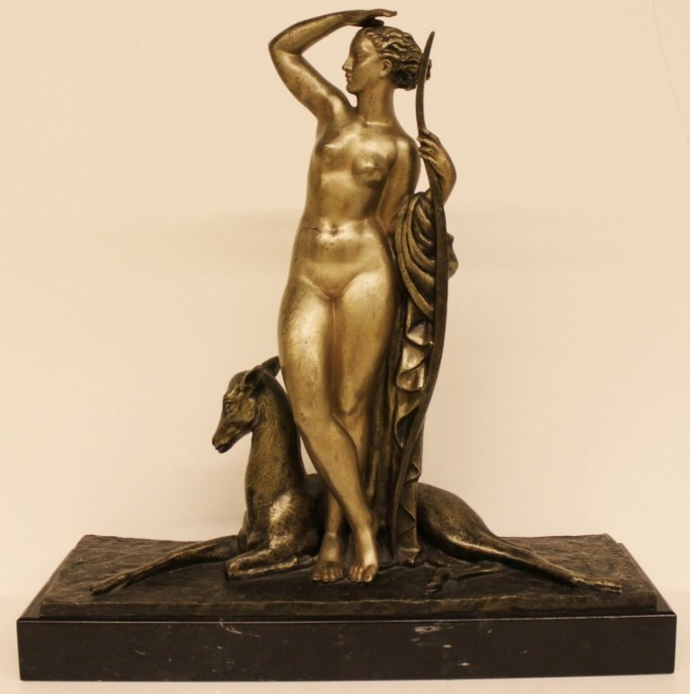 Pierre Le Faguays Bronze Sculpture Diana the huntress