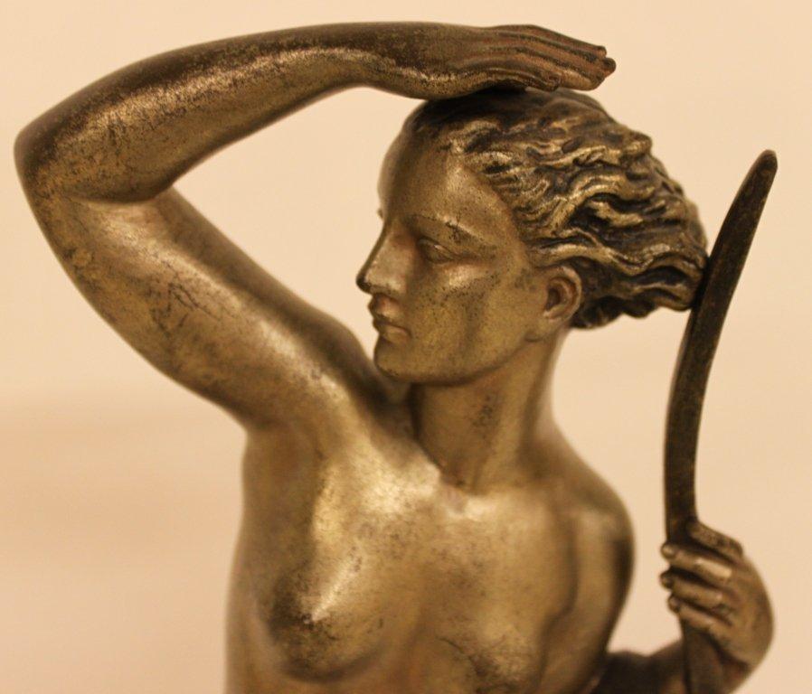 Pierre Le Faguays Bronze Sculpture Diana the huntress - 3