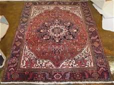 Hand Woven Semi Antique Persian Heriz - approximately 8