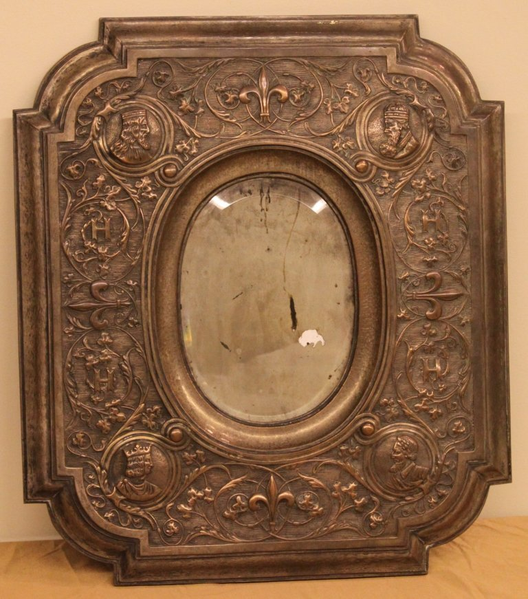 Copper Relief Wall Mirror