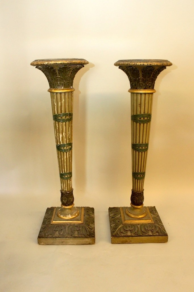 Pair of French Decaux & Maous Paris Pedestals