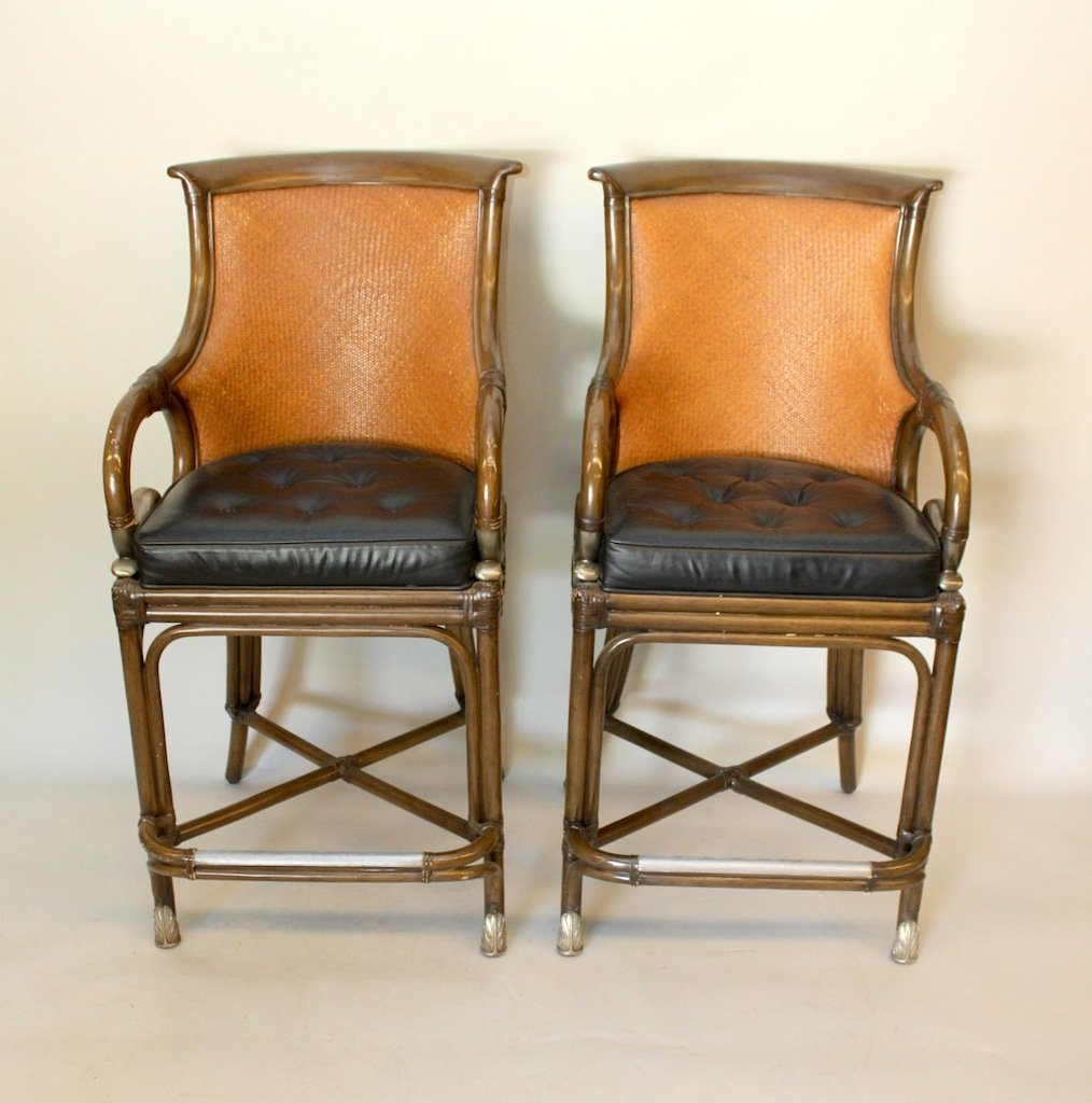 Pair of Maitland-Smith Bar Stools