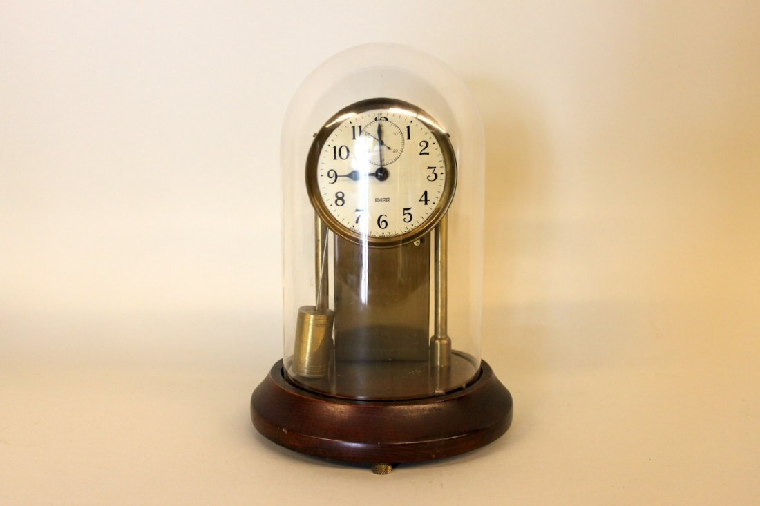 Barr Pendulum Clock with Glass Dome