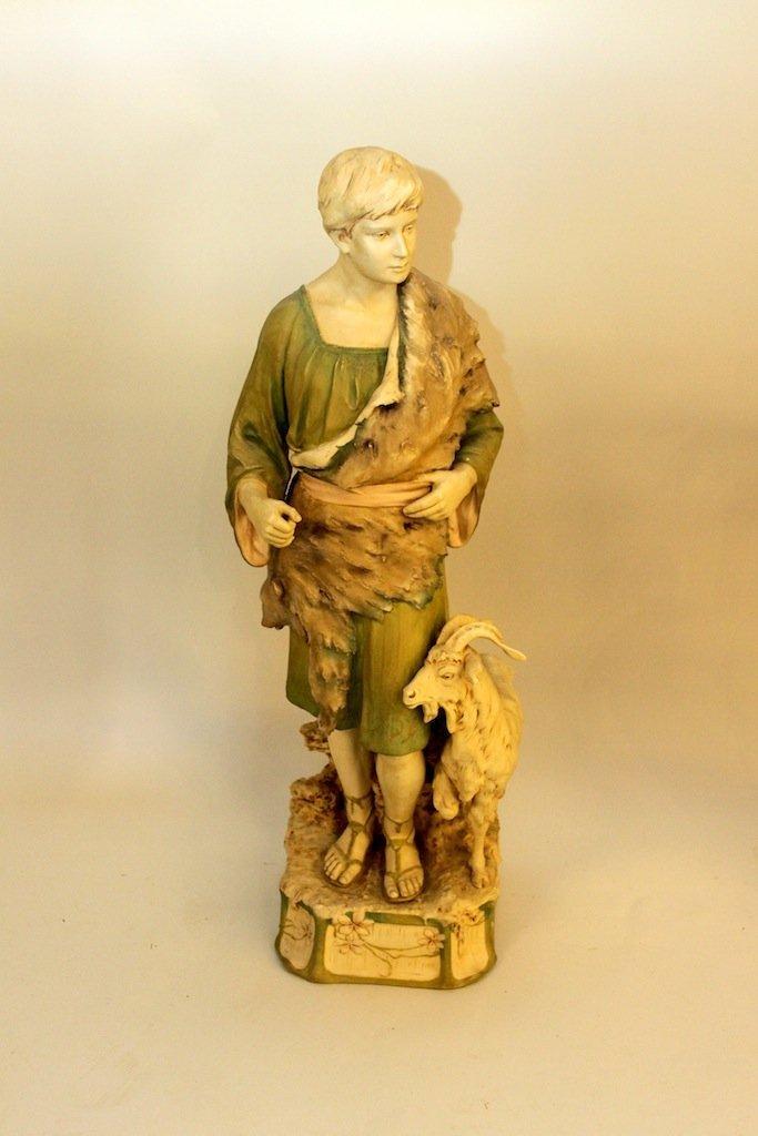 Monumental Royal Dux Figure of Shepherd