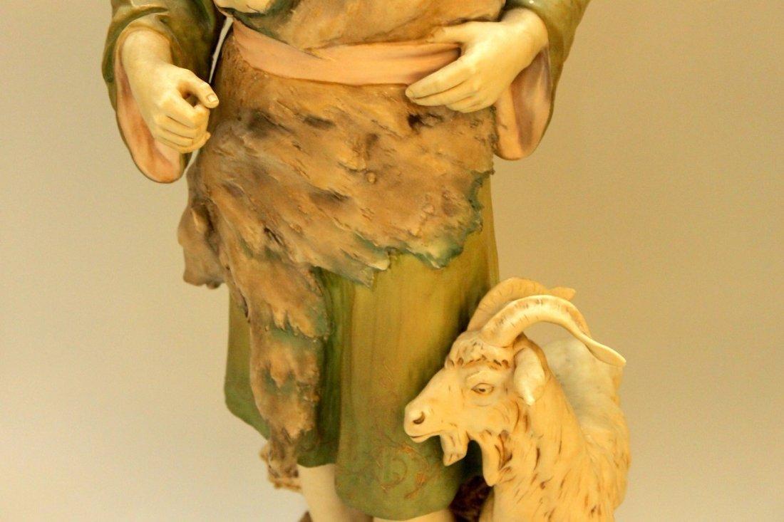 Monumental Royal Dux Figure of Shepherd - 3