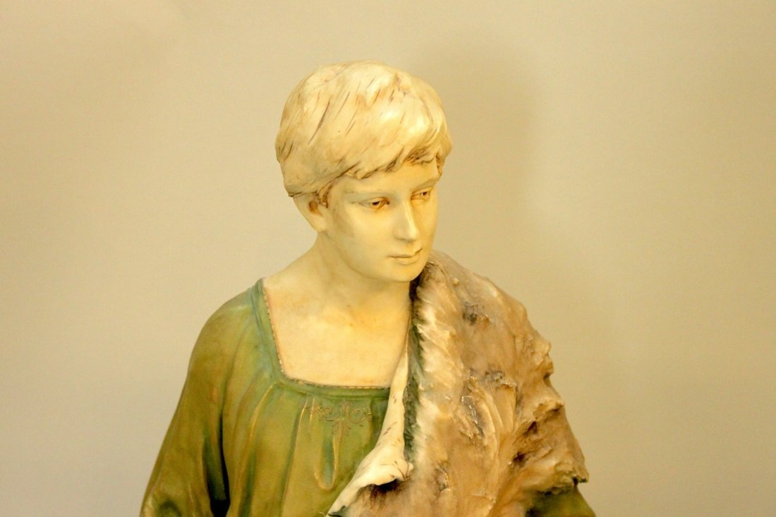 Monumental Royal Dux Figure of Shepherd - 4