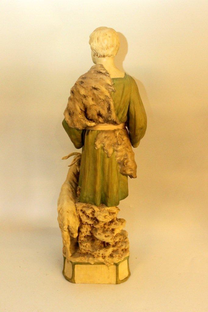 Monumental Royal Dux Figure of Shepherd - 5