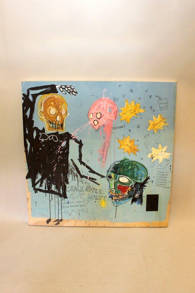 Paint & Mixed Media on Board - Crack Apple Night