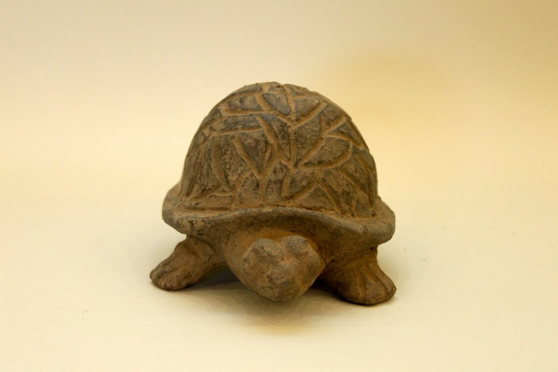 Meso-American Clay Figure Of A Turtle