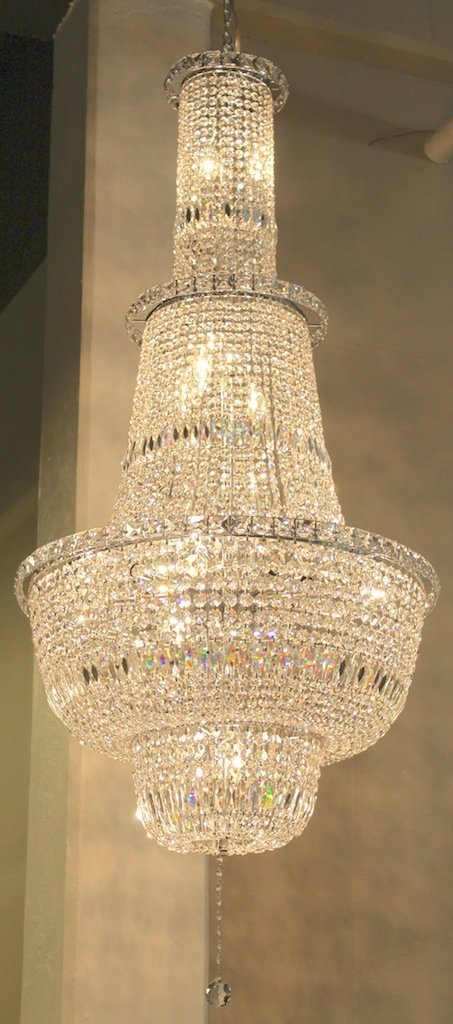 Large Schonbek Multi-Tier Crystal Chandelier
