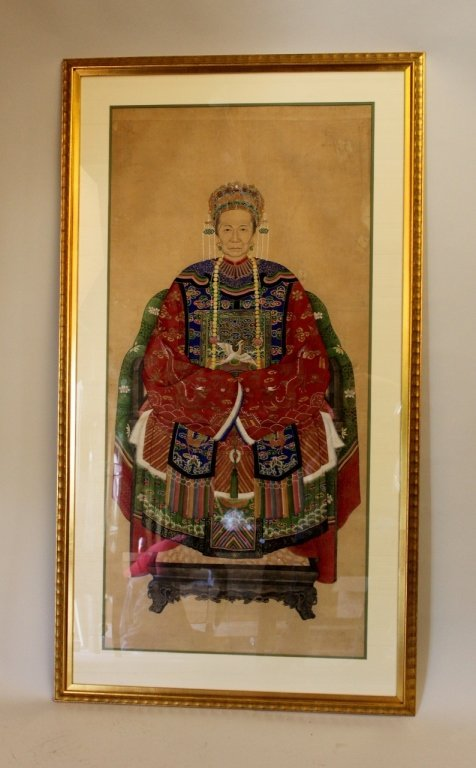 19th Century Chinese Ancestor Portrait