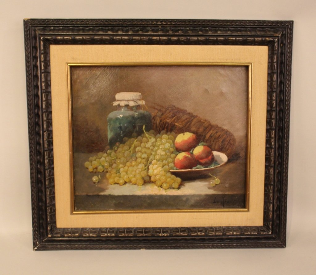 Still Life Oil on Canvas Painting-Constantin LeRoux