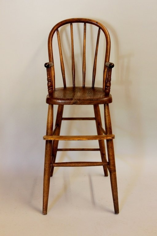 Windsor Style Child's Wood High Chair