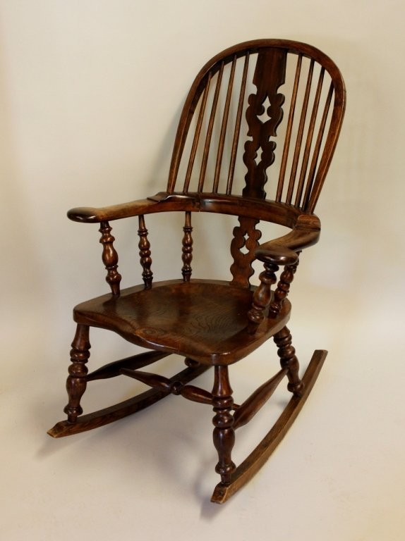 19th C. English Windsor Rocking Chair