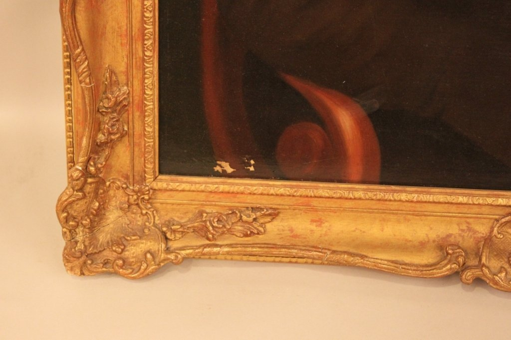 Mid-19th C. American or English Oil on Canvas - 4