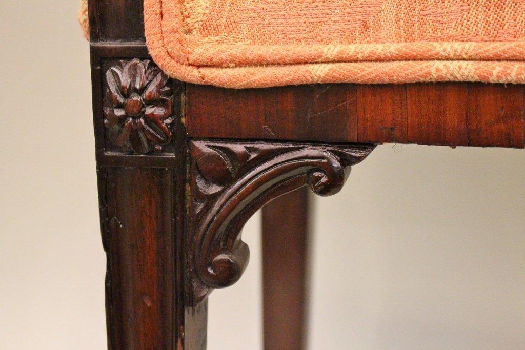 Narrow Hepplewhite Mahogany Bench - 4